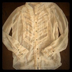 Cream color polka dot blouse